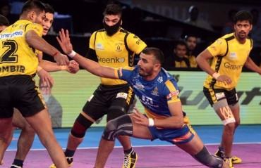 Pro Kabaddi: Sombir's 10 helps Telugu Titans overcome Tamil Thalaivas 33-28