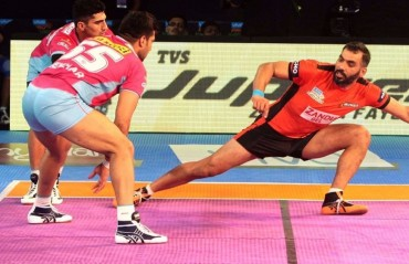 Pro Kabaddi: U Mumba end Mumbai leg on a high, beat Jaipur Pink Panthers 36-32