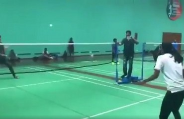 WATCH: Actor Sonu Sood plays badminton vs Sindhu & puts up a tough fight