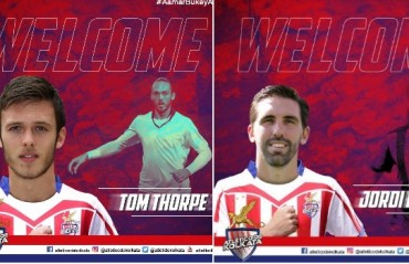 ISL 2017: ATK sign two foreign defenders Jordi Figueras and Tom Thorpe