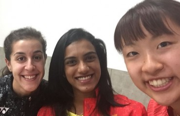 Champions in one frame: Sindhu, Marin & Okuhara spend time together ahead of their action at Japan SS
