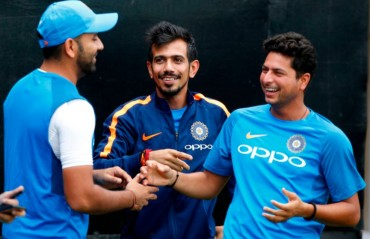 WATCH: Rohit Sharma pokes fun at Yuzvendra Chahal & Kuldeep Yadav in a funny interview