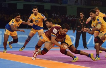 Pro Kabaddi: Tamil Thalaivas stay winless at home as UP Yoddha win 37-33