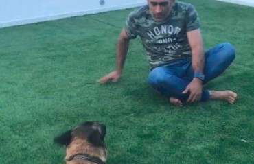 WATCH: MS Dhoni's pet dog Sam's adorable mirroring talent