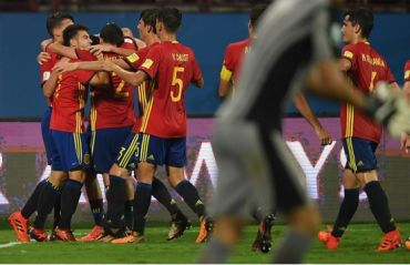 FIFA U-17 WC: Spain down 10 men North Korea 2-0; enters RD of 16 along with Brazil & Niger from Group D