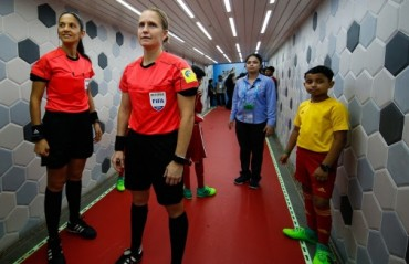 Esther Staubli shares her experience officiating a men's FIFA World Cup game