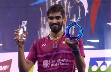 Srikanth clinches the French SS title; his 4th SS win of the year