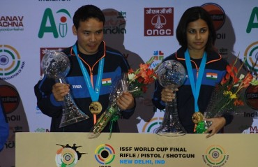 India produce best ever result at the ISSF World Cup; win a Gold, Silver and a bronze