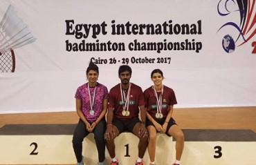 Egypt IS: Prajakta/Sanyogita ended as runners-up; Prajakta/Yogendran clinch title