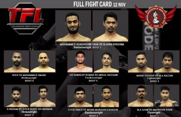 Indian MMA: Telangana Fight League announces Fight card for inaugural event
