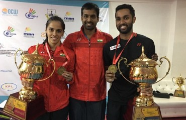 Prannoy, Nehwal crowned national Badminton champions