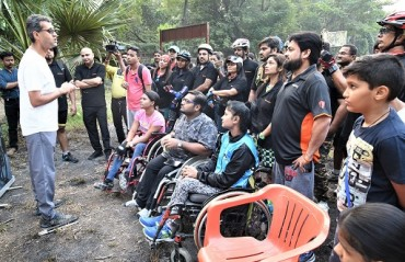 A unique initiative by Firefox Riders to support persons with disabilities to enjoy adventure sports