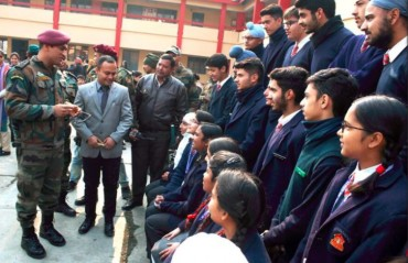 WATCH: Dhoni visits Army Public School Srinagar; urges students to balance studies & sports
