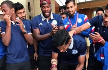 WATCH: Jamshedpur FC celebrate 'Spiderman' Subrata Paul's birthday