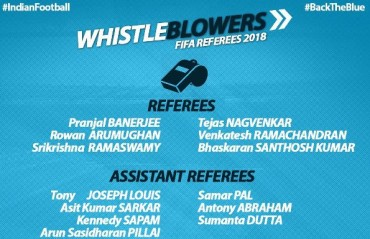 16 Indian referees and assistant referees approved by FIFA panel for 2018