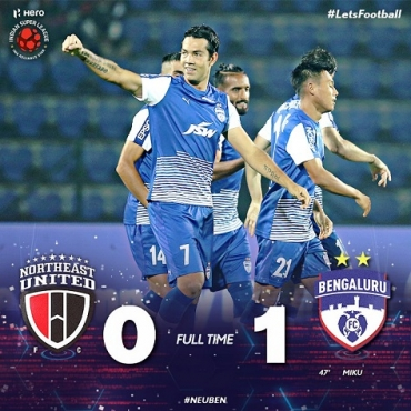 MATCH REPORT: Miku's only goal won BFC all three away points against NorthEast United FC
