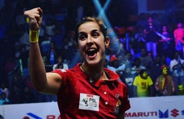 WATCH: Carolina Marin wants more fans to come & support Hyderabad Hunters this season