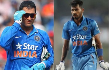 WATCH: MS Dhoni competes against Hardik Pandya in a 100 metre sprint