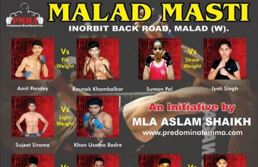 Indian MMA: Full Fight card for third event from Predominate MMA at Malad Masti