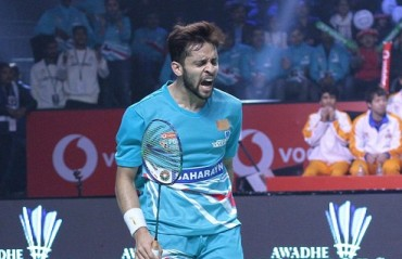 PBL 2017-18: WATCH -- Parupalli Kashyap's winning shot vs Sourabh that was a crucial win for Awadhe