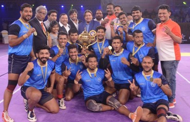 Maharashtra beat Services 34-29 to be crowned champions of 65th Senior Kabaddi Championship