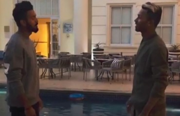 WATCH: KL Rahul and Hardik Pandya engage in a dab competition