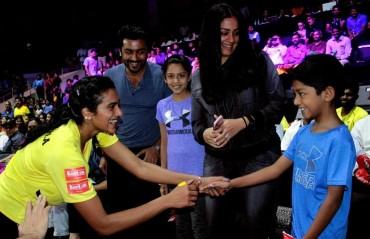 WATCH: Tamil superstar Surya and family were among the fans to support Chennai Smashers