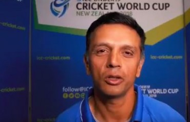 WATCH: Rahul Dravid's message for the fans ahead of U 19 World Cup