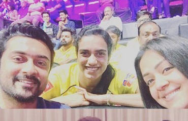 PBL 2017-18: WATCH -- Shuttler PV Sindhu posing with Tamil movie stars