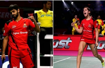 PBL 2017-18: MATCH REPORT -- Praneeth & Marin lead Hyderabad Hunters to the finals, beat Delhi 3-0