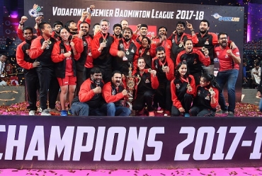PBL 2017-18: MATCH REPORT -- Hyderabad Hunters hunt Bengaluru Blasters 4-3 to lift the PBL season 3 trophy