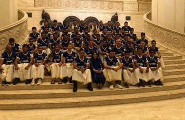 ISL 2017-18: WATCH -- MS Dhoni celebrates Pongal with Chennaiyin FC players