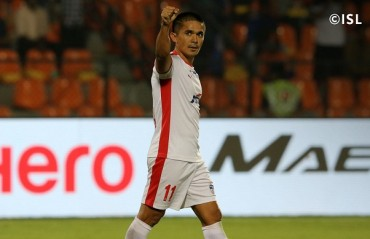 ISL 2017-18: Brace from Chhetri and one from Miku steals the show at Mumbai Football Arena