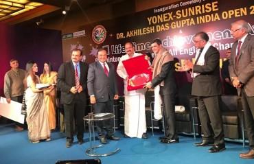 Badminton Legend Prakash Padukone conferred with Lifetime Achievement Award by BAI