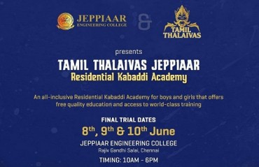 Tamil Thalaivas along with Jeppiaar trust announces free residential academy for Kabaddi