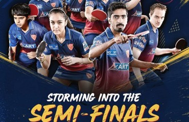 Table-Toppers Dabang Smashers TTC become first team to storm into the semifinals of the CEAT UTT