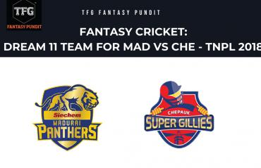 Fantasy Cricket: Dream11 tips for TNPL -- Madhurai Panthers vs Chepauk Super Gillies