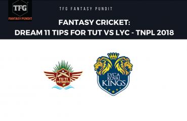 Fantasy Cricket: Dream11 tips for TNPL -- TUTI Patriots vs Lyca Kovai Kings