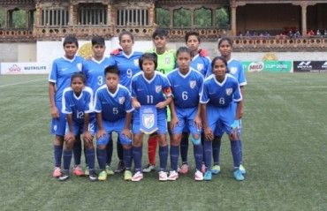 India women's U-15 team progressed to the semi-finals of the SAFF Under-15 championship