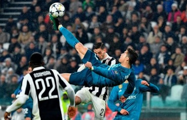 Ronaldo's bicycle kick in Champions League wins UEFA Goal of the Season