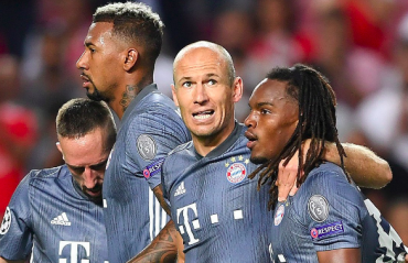 UEFA Champions League -- Bayern dominate Benfica, register 2-0 victory away from home