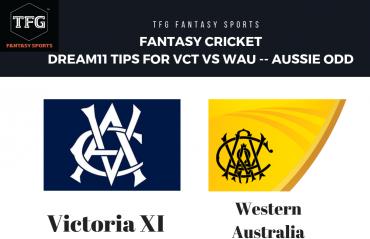 Fantasy Cricket: Dream 11 tips for Victoria XI vs Western Australia Warriors -- JLT Cup -- Aussie ODD