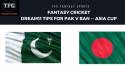 Fantasy Cricket: Dream11 tips in Hindi for Asia Cup -- Pakistan v Bangladesh