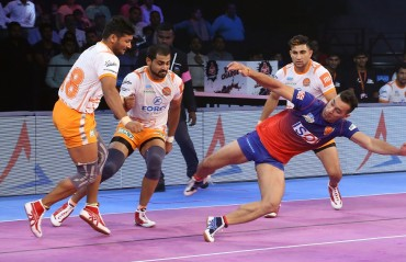 Dabang Delhi KC put up a spirited performance to beat Puneri Paltan 41-37 in Match 12