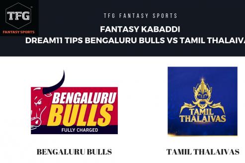 Fantasy Kabaddi - Dream 11 tips for Bengaluru Bulls vs Tamil Thalaivas