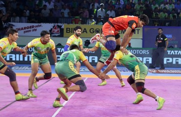 Bengaluru Bulls win the mouth-watering match against Patna Pirates 43-41