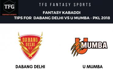 TFG Fantasy Sports: Fantasy Kabaddi tips for U Mumba vs Dabang Delhi -- Pro Kabaddi