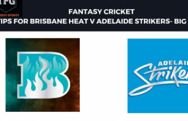 TFG Fantasy Sports: Fantasy Cricket tips in Hindi for Brisbane Heat v Adelaide Strikers--Big Bash