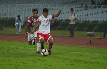 Mohun Bagan, displayed a thoroughly professional performance at home to notch up a victory against bottom placed Shillong Lajong