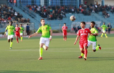 Aizawl presents three points to their fans, scoring three against Gokulam
